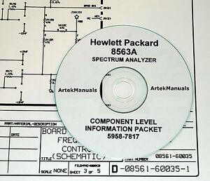 hewlett packard service clip schematics manual for the 8563a rh ebay com Repair Manuals hp 8563a service manual