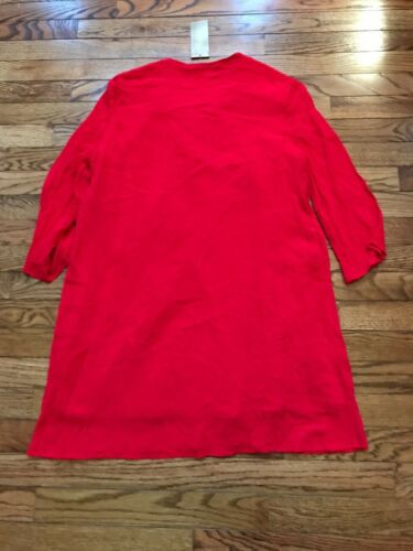 61a14ac7d17 2 of 4 Women's Francesca's Red Beaded Tunic-Dress, Size Small, NWT, NEW  WITH TAGS