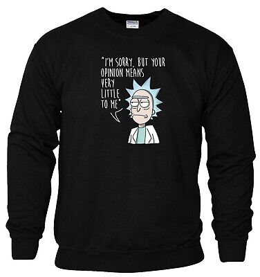 Rick and Morty Hoodie Pickle Rick Opinion Funny Birthday Gift Men Sweatshirt Top