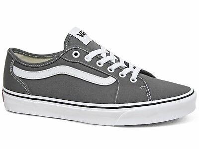 Vans Filmore Decon Canvas Herren Sneakers Pewter White Grau Weiß VN0A3WKZ4WV1   eBay