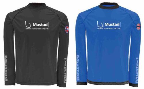 Mustad Day Perfect Black or Blue Clothing Fishing UPF30 Sun Protection Shirt