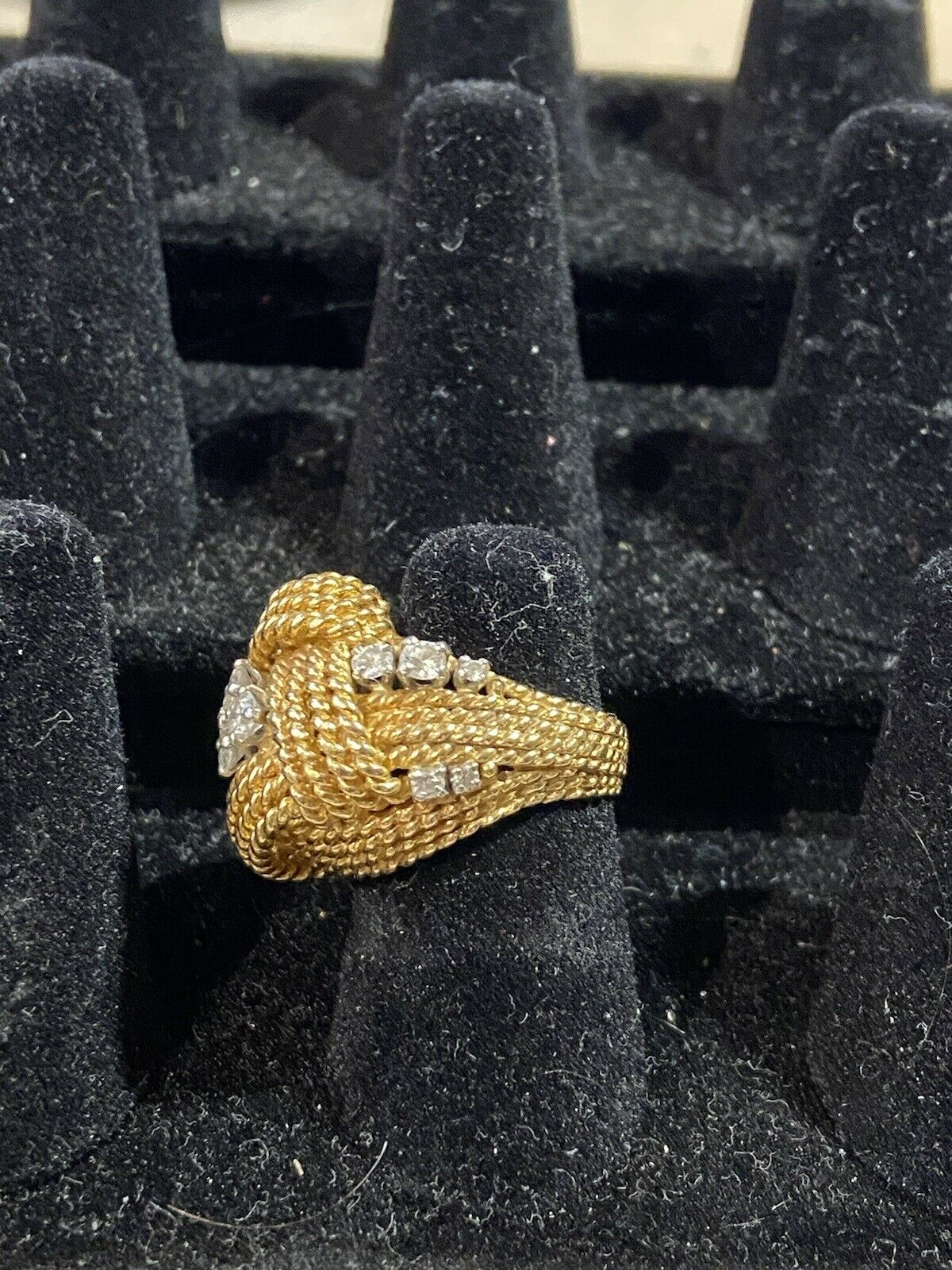 Vintage Gold And Diamond Ring - image 5