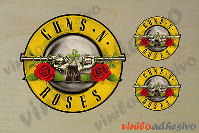 Pegatina Sticker Vinilo Guns'n Roses Rock Autocollant Aufkleber Adesivi Rinfrescante E Arricchente La Saliva
