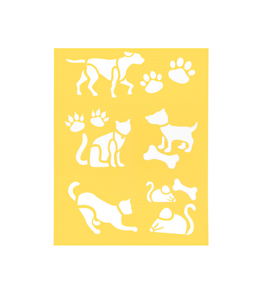 Stencil-Sheet-CATS-DOGS-PAWS-8-1-2-034-x-11-Plastic-Reusable