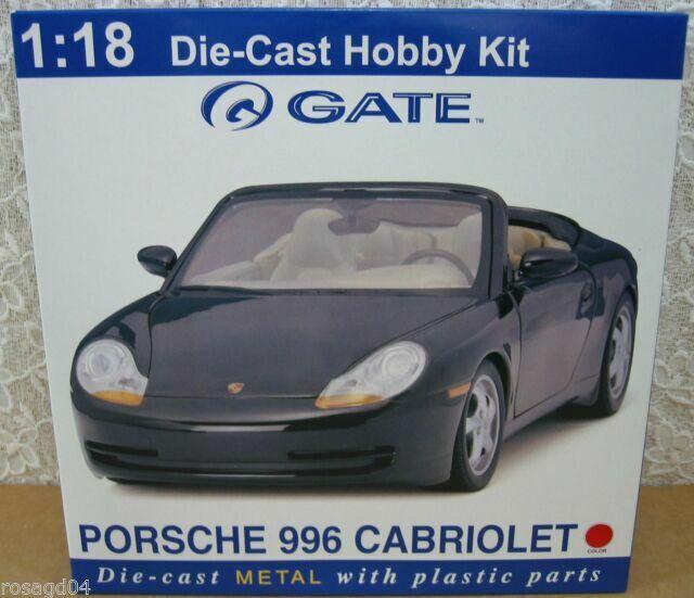 Gate Porsche 996 Cabriolet//Convertible Red Car Model Kit Die-Cast 1:18 Scale NEW