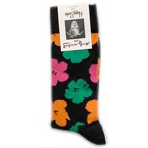 Happy-Socks-x-Andy-Warhol-Flower-Socks-Men-039-s-Women-039-s-Sizes-BNWT