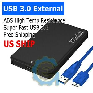 2-5-034-SATA-USB-3-0-BLK-Hard-Drive-Disk-HDD-SSD-Enclosure-External-Laptop-Cases