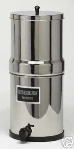 Nouveau British Berkefeld Filtre à Eau Système SS avec quatre 7  blanc ceramic filters