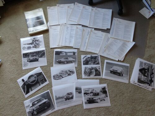 1989 AUDI QUATTRO 80 90 100 100E 200 Press Release 35 Photos PRISTINE Racing Cut
