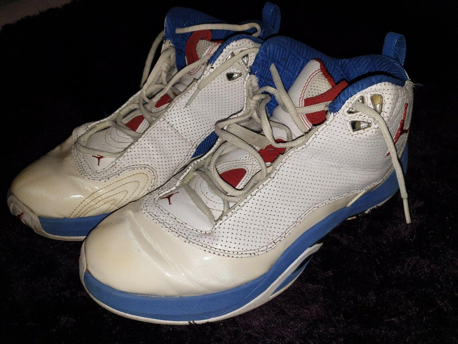 Jordan 29 Baloncesto Zapatos Air entrenadores UK Talla 10 & Half Raro 2008 blancoo Azul
