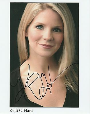 Autographs-original Theater Kelli O'hara Signed Photo W/ Hologram Coa Supplement The Vital Energy And Nourish Yin