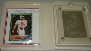 Highland Mint Topps 1986 Steve Young #374 Limited Edition of 500 SILVER Card