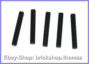 5-x-Lego-Technic-Kreuzstangen-schwarz-3705-Axle-4-Black-NEU-NEW