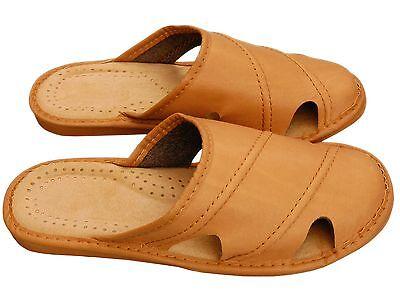 Herren Hausschuhe - Größe 40-46 - Echtleder - Latschen,Pantoffeln - XC22-BE