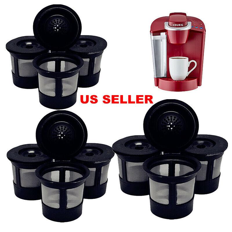 6 Reusable Refillable K-Cup Coffee Filter Pod Fits Keurig K45,K65,K77,K79