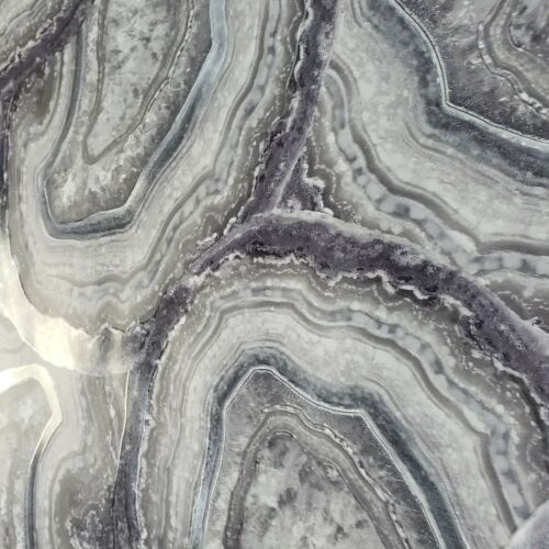 Modern Non-woven Wallpaper faux Agate amethyst Mineral Rock stone gray purple 3D