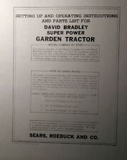 David Bradley Sears 9175760 Garden Tractor Amp Plow Owners Amp Parts 2 Manuals