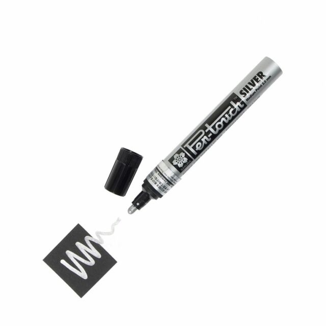 Metallic Silver 2.0mm Med 2 each 41502 New! Sakura Pen Touch Paint Marker