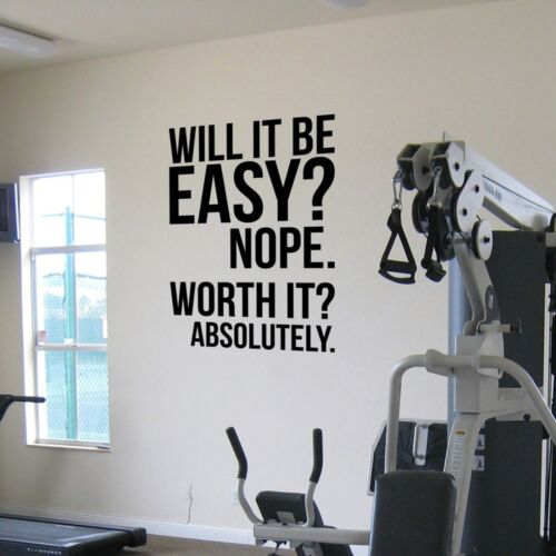 Wall Quotes Fitness Motivation Decor Letters Gym Stickers Crossfit Vinyl Large