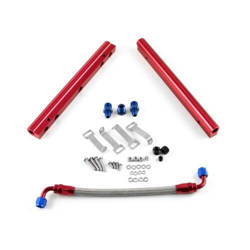 Pontiac 326 350 389 400 421 428 455 Single Billet Alum Fuel Injector Rail Kit