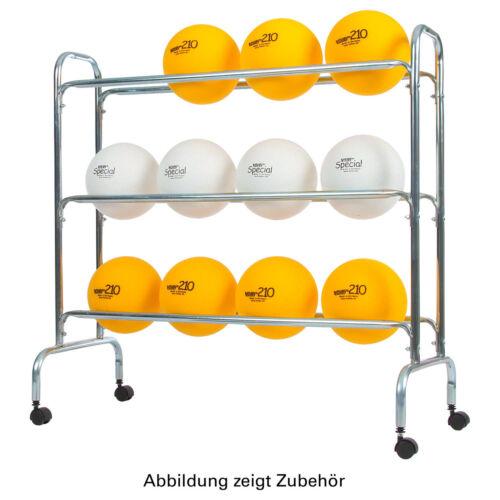 Ballwagen für Sporthallen Vielzweckwagen fahrbar Ballregal für bis zu 12 Bälle