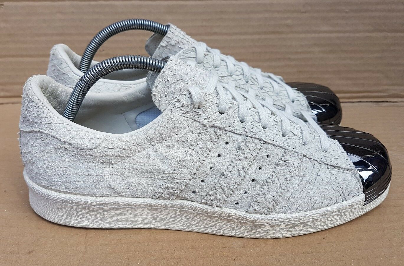 ADIDAS SUPERSTAR 80s TRAINERS REPTILE SIZE SKIN GREY METAL TOE SIZE REPTILE 6.5 UK RARE MINT 905b8f