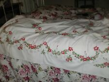Vintage Mid Century  Christmas Tablecloth
