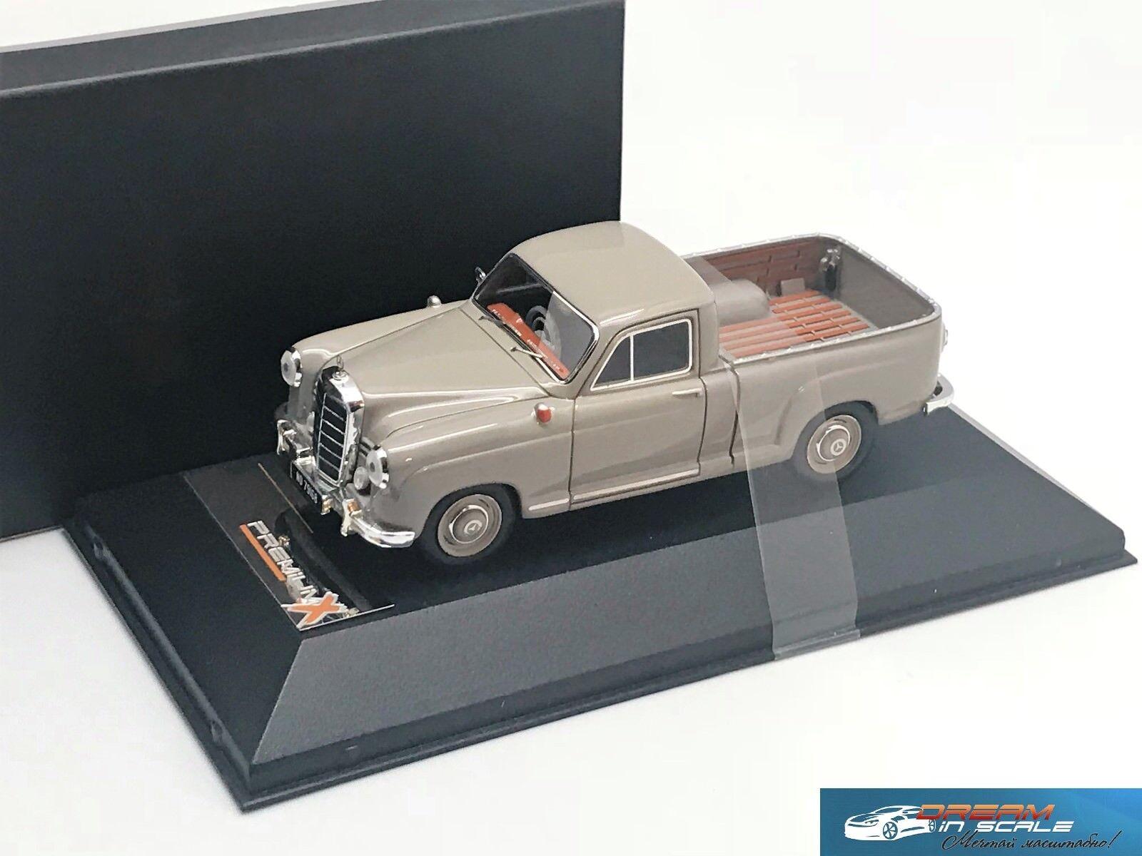 colores increíbles Mercedes Benz 180 D BAKKIE gris 1956 1956 1956 Premium X PR0209 1 43  nuevo estilo