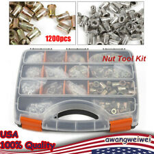 1200 Pieces Of Nut Tool Kit Riveter Nuts M3 M12 Free Threaded Nut Rivet Us