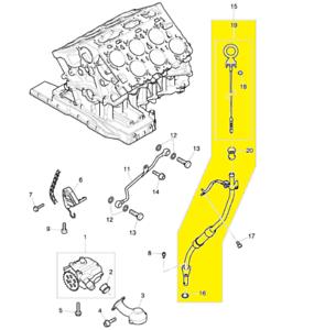 w12 engine diagram bentley w12 engine dipstick assembly ebay  bentley w12 engine dipstick assembly ebay