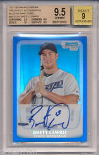 2011 Bowman Chrome Blue Ref Auto Brett Lawrie RC Rookie BGS 9.5 w/10 #'d 062/150