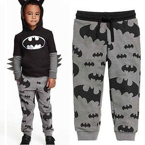 Kinder-Jungen-Batman-Jogginghose-Freizeithosen-Traininghose-Sport-Harem-Hose