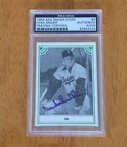 Duke-Snider-Los-Angeles-Dodgers-Signed-Autograph-Baseball-Card-PSA-DNA-Slabbed