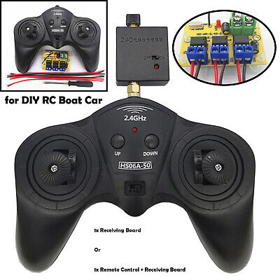 6CH 2.4G Wireless Remote Controller Transmitter Receiver Board for RC Boat Car