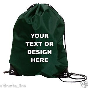 Custom drawstring bag Name Your Text school gym personlised