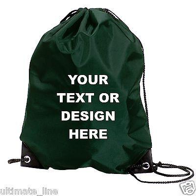 Personalised Royal Drawstring Bag Sack Gym PE Swim Gym  School Print