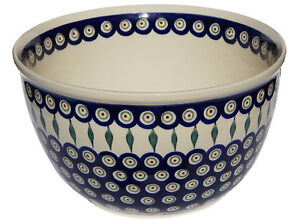 Polish Pottery Mixing Bowl 5 Qt. GU986-56 Zaklady Boleslawiec