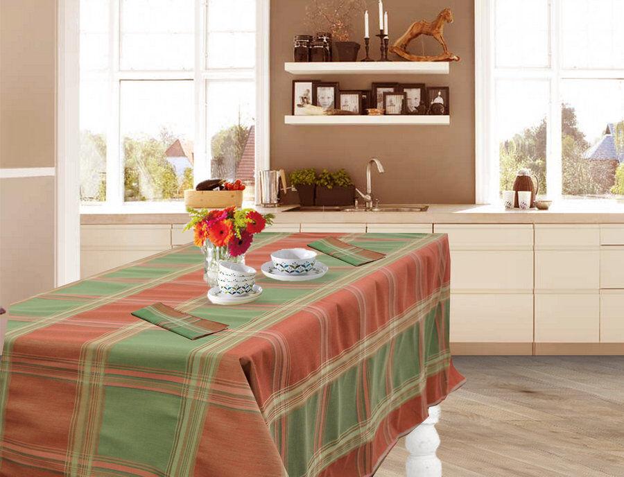 Grün-rot Schottenkaro Tischdecke aus Baumwolle (Carnaby Street col.77)