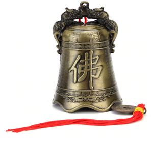 Lovares Antike Glocke hängend Frieden Deko Anhänger Buddha Segen Glück China