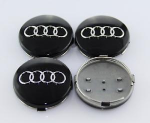 Audi-Schwarz-4-x-60mm-Nabenkappen-Felgendeckel-Allufelge-Satz-4B0601170