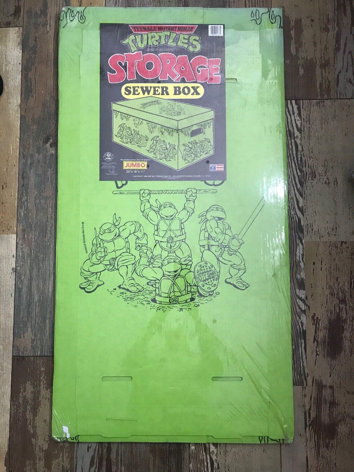 FÁBRICA RARA SELLADA  de Colección Teenage Mutant Ninja Turtles Drenaje Almacenamiento Caja de 1990