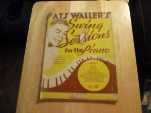 """Fats Waller,SONG BOOK,""""Fats Waller's Swing Sessions for ... Fats Waller Songs"""