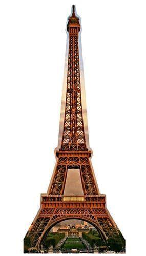 Eiffel Tower Lifesize Cardboard Cutout - 186cm