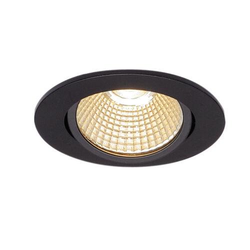 SLV 114380 New tria 68 LED dl round set negro mate 9w 38