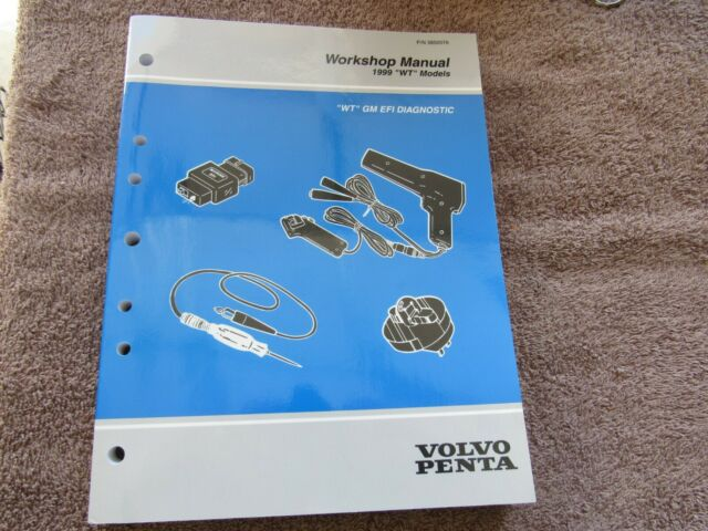 new 1999 volvo penta workshop manual wt models gm efi