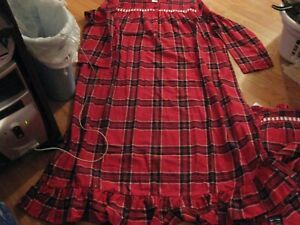 Womens Flannel Nightgown Size 3x 4x Christmas Holiday Nightgown Red