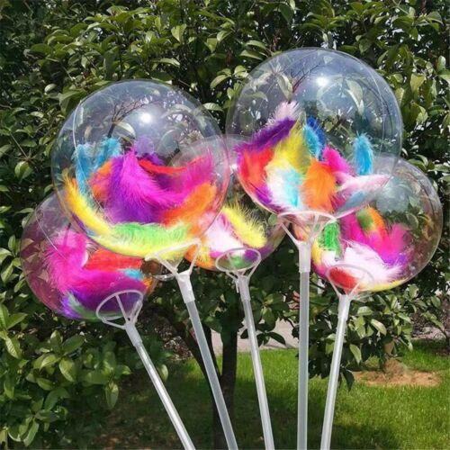 100pcs Mixed Size Colorful Feathers DIY Helium Balloon Wedding Party Decor UK