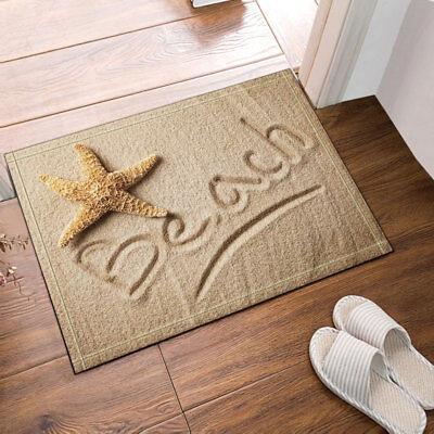 Non Slip Floor Door Mat 16x24, Beach Bathroom Rugs