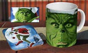 The-Grinch-Christmas-Movie-Ceramic-Coffee-MUG-Wooden-Coaster-Set