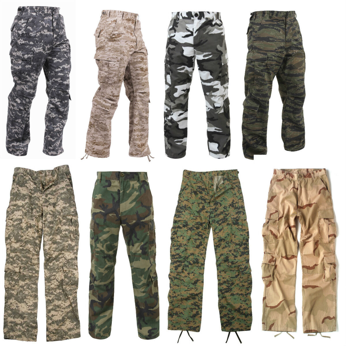 Pants BDU Pants Military Camouflage Paratrooper Tactical Fatigue Camo  redhco